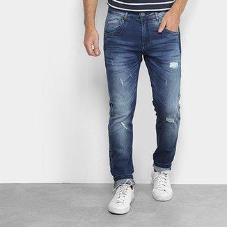 b5167f8c8 Calça Jeans Skinny Zune Destroyed Masculina