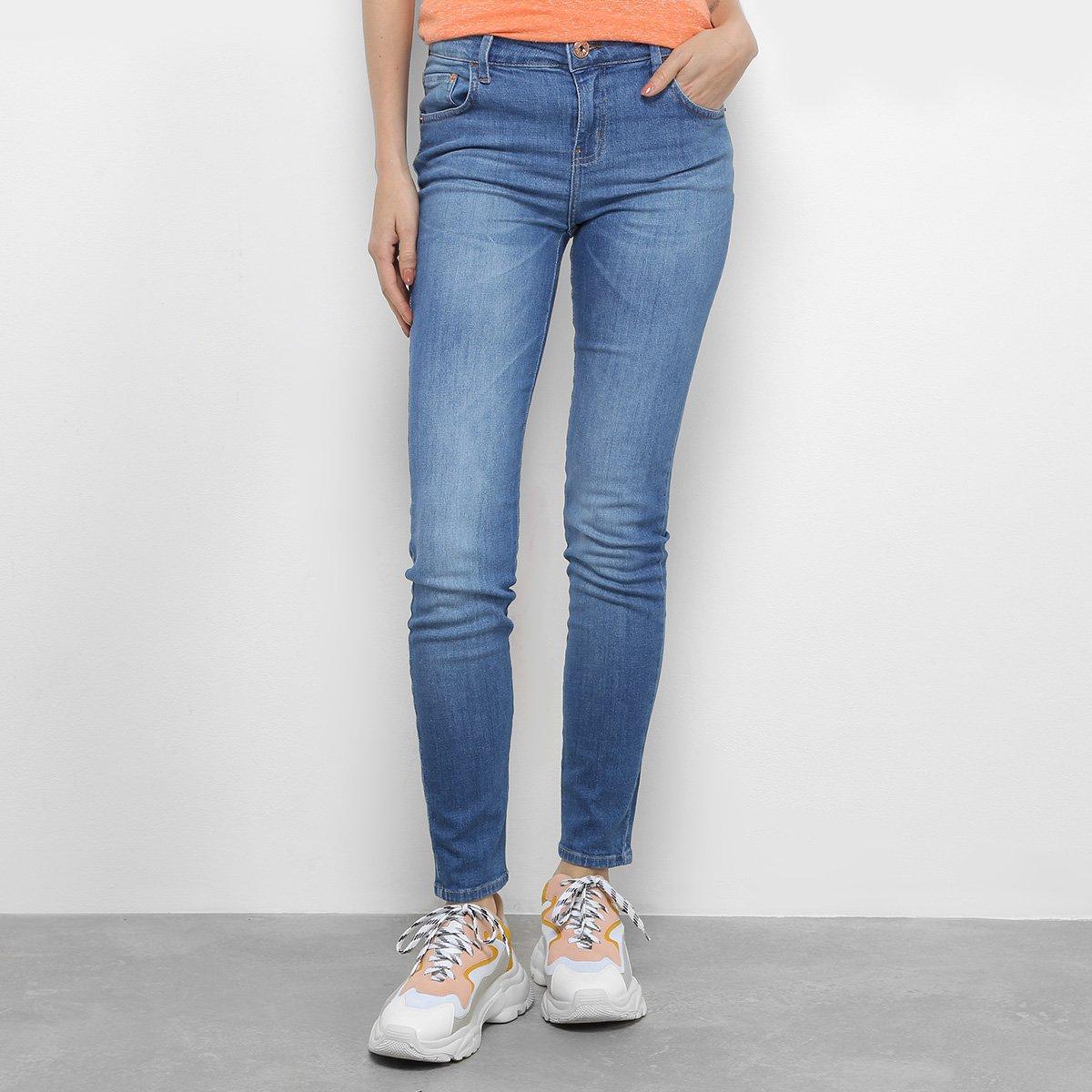 37e42f80e Calça Jeans Skinny Coca-Cola Mid Cintura Média Feminina