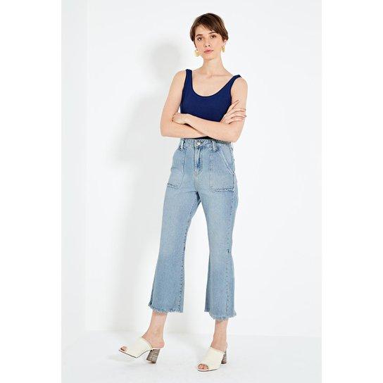 3116fef75 Calça Jeans Cropped Bolso Frente Feminina | Zattini