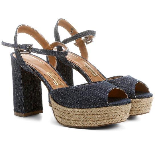 38b8062bef Sandália Santa Lolla Meia Pata Corda Jeans - Compre Agora