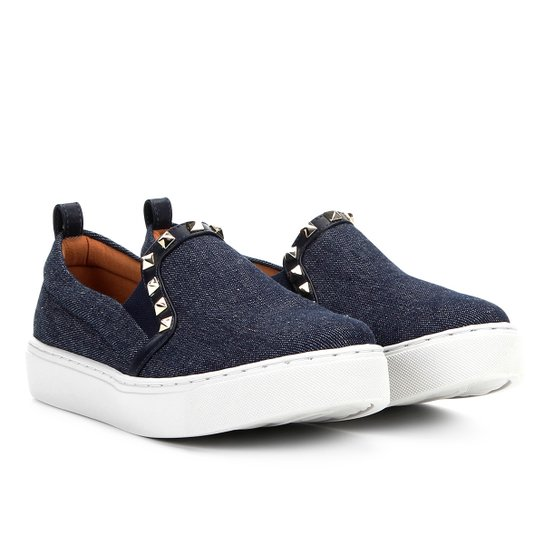 838c4280d Slip On Santa Lolla Jeans Spikes Feminino - Azul | Zattini