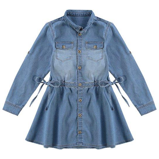 b068dc33f Vestido Chemise Jeans Infantil Milon Feminino | Zattini