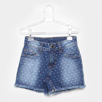d007487d5 Short Jeans Infantil Milon Corações Feminino