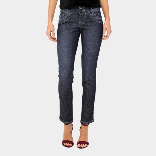 8f45725ce Calça Jeans Skinny Razon Escura Botão Duplo Feminina - Compre Agora ...