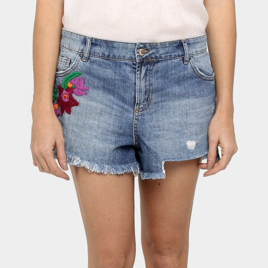 77ea507c9d909f Short Farm Bordado - Jeans