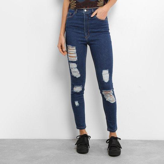 c1ede4ed24 Calça Jeans Skinny Farm Rasgada Feminina - Compre Agora