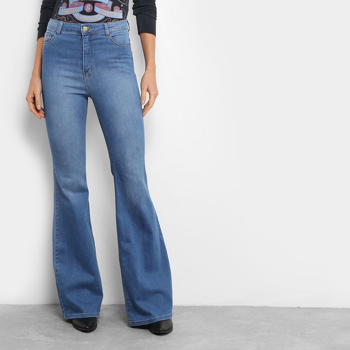506aac073 Calça Jeans Flare Farm Cintura Alta Feminina | Livelo -Sua Vida com ...