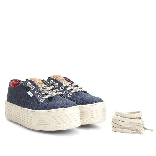 e3c9edeb22 Tênis Farm Laje Canvas Feminino - Jeans - Compre Agora