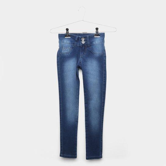 d2345dee5 Calça Jeans Infantil Grifle Estonada Feminina - Azul Escuro - Compre ...