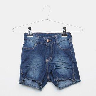 28cdfb5647 Short Jeans Infantil Grifle Estonada Feminino