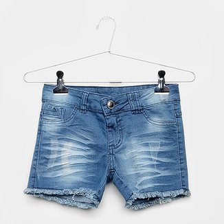 Shorts Jeans Infantil Grifle Feminino fd67b45bdd0c2