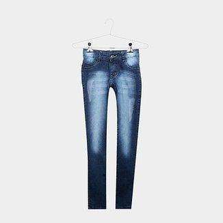 c60410e5b4 Calça Jeans Infantil Grifle Estonada Cintura Média Feminina