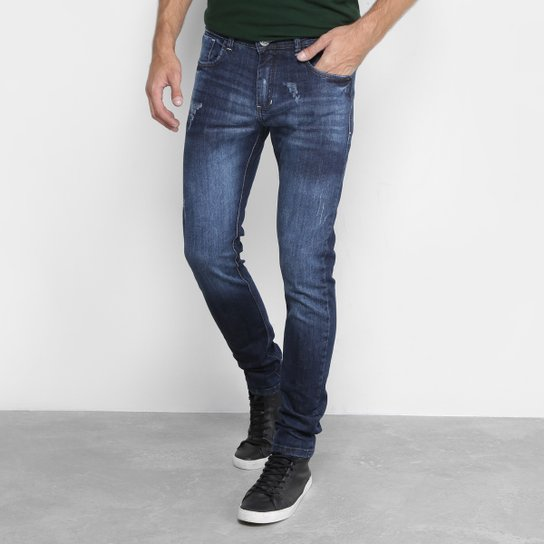 Calça Jeans Reta Preston Escuro Masculina - Azul - Compre Agora ... b381a60768a42