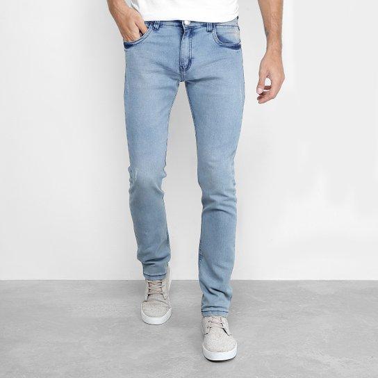 3bd870eb16 Calça Jeans Slim Preston Lavagem Clara Masculina - Compre Agora ...