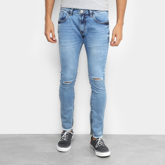 ad4aa11e6 Calça Jeans Cropped Preston Destroyed Masculina - Jeans | Zattini