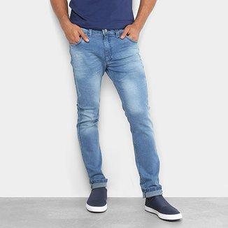 fd2b7d1526 Calça Jeans Skinny Preston Estonada Puídos Elastano Masculina