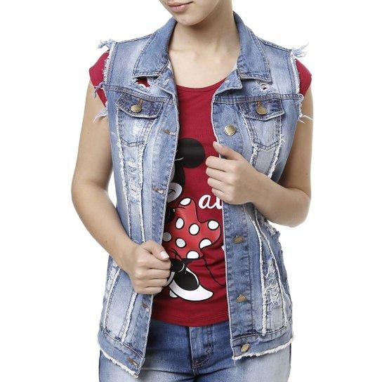 Colete Jeans Feminino - Compre Agora  00e2053e8a0f2