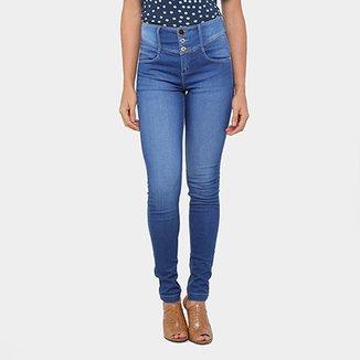 2259b19fa Calça Jeans Skinny Morena Rosa Andreia Cintura Média Feminina