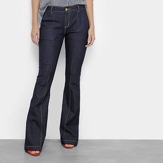 210112704c Calça Jeans Flare Morena Rosa Boot Cut Carol Cintura Média Feminina