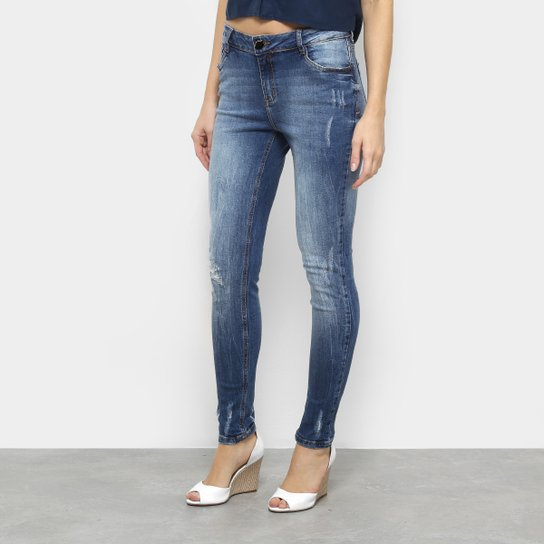 db48b34913 Calça Jeans Morena Rosa Skinny Andreia Cós Intermediário Feminina - Jeans