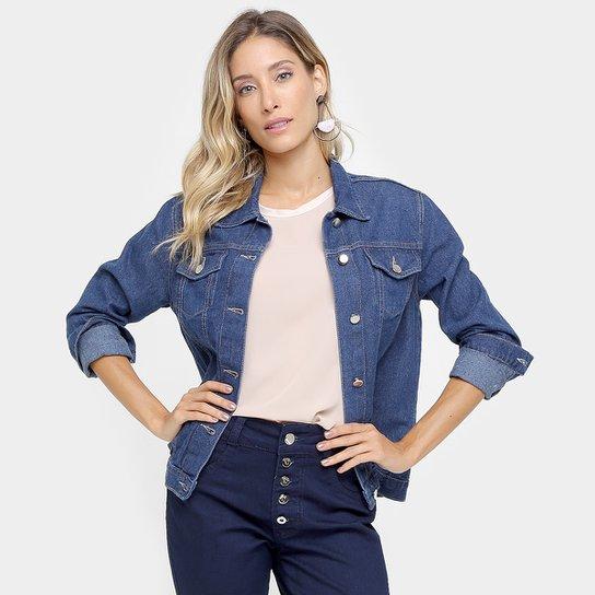 Jaqueta Jeans Drezzup Lavagem Escura - Compre Agora  71b0770cfcf