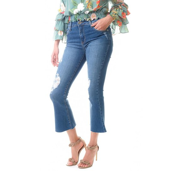 b91c4611b Calça Multi Ponto Denim Pantacourt Jeans - Jeans | Zattini