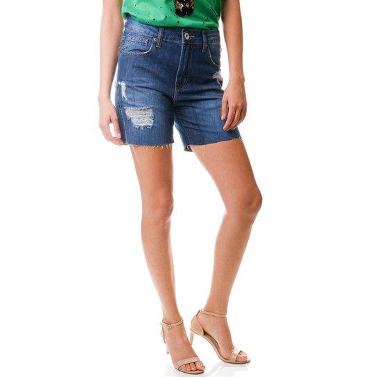 6e2e69cad Shorts Multi Ponto Denim Comportado Escuro - Jeans | Zattini
