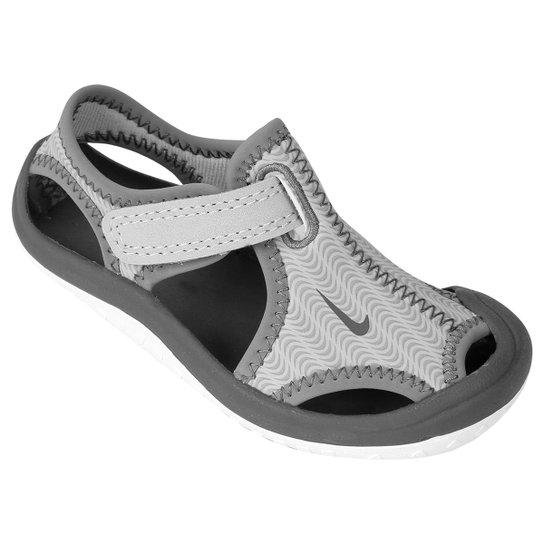 ecf5cf125 Sandália Nike Sunray Protect BT Infantil - Cinza+Branco
