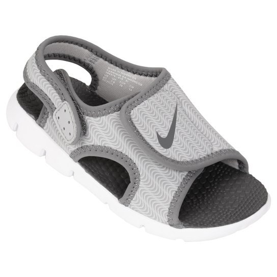 Sandália Infantil Nike Sunray Adjust 4 - Cinza e Branco - Compre ... 53cc6870646a4