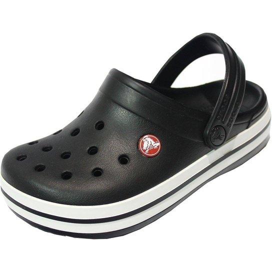 56d16851fd Sandalia Inf. Crocs Crocband Kids - Preto e Branco