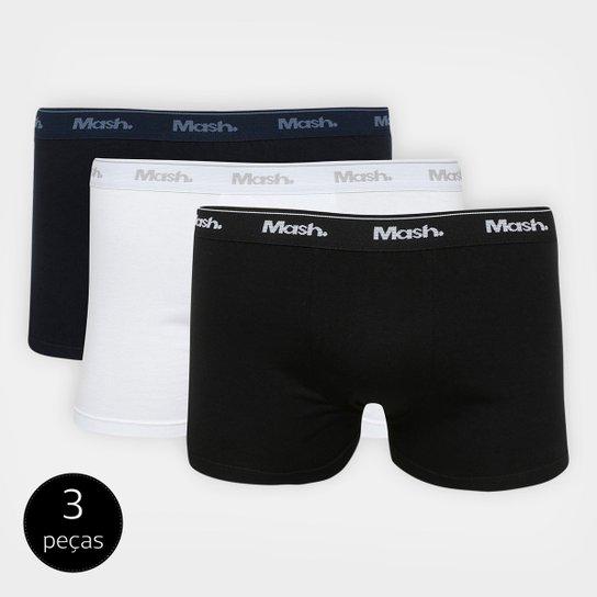 3d97b6311 Kit de Cuecas Boxer Mash 3 Peças - Preto e Branco - Compre Agora ...
