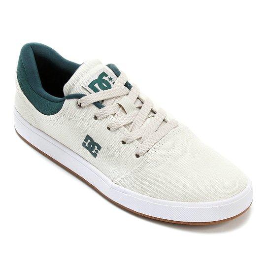 5bca1da64 Tênis Dc Shoes Crisis Tx La - Creme+Verde