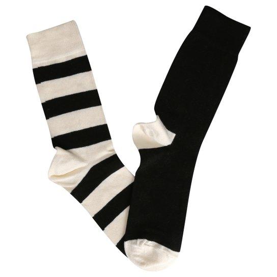 5fbf364ef Meia Happy Socks Stripe Sock 2 Pares - Compre Agora
