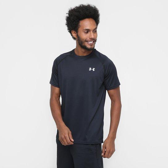 f3dada4b9e7 Camiseta Under Armour UA Tech SS Masculina - Preto e Branco - Compre ...