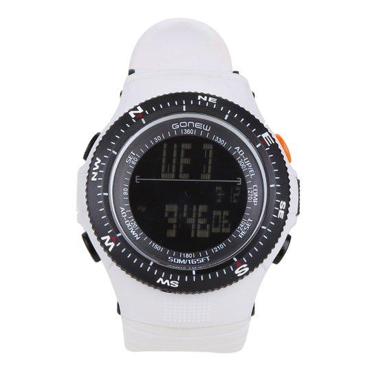 20d12d128 Relógio Digital Gonew Masculino - Preto e Branco - Compre Agora ...