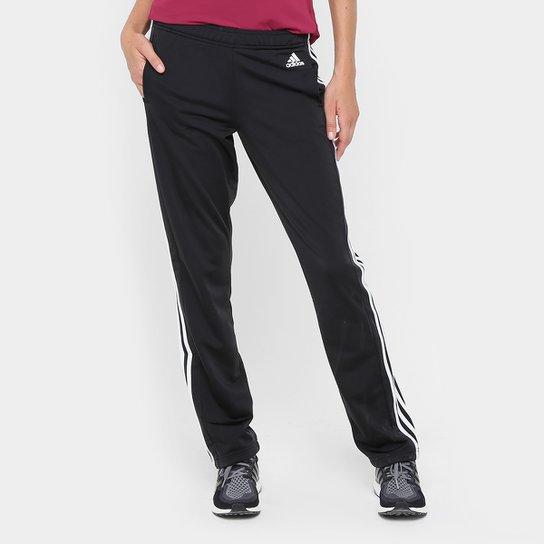 5fc6419cb Calça Adidas D2M Straight Feminina - Preto+Branco