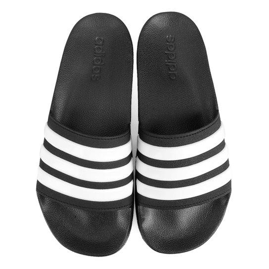 85468c06dd Chinelo Slide Adidas Adilette Cloudfoam Masculino - Preto e Branco ...