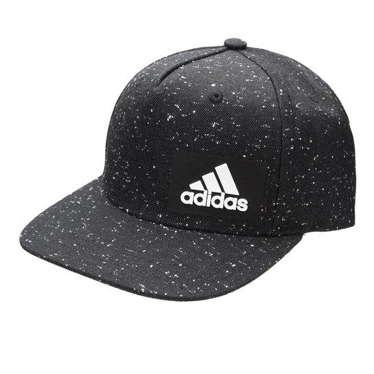 Boné Adidas H90 Melange Aba Reta - Preto e Branco - Compre Agora ... 0db2457b1fa