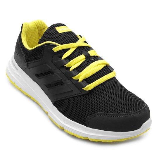 d6ec491cd Tênis Adidas Galaxy 4 Masculino - Preto e Branco - Compre Agora ...