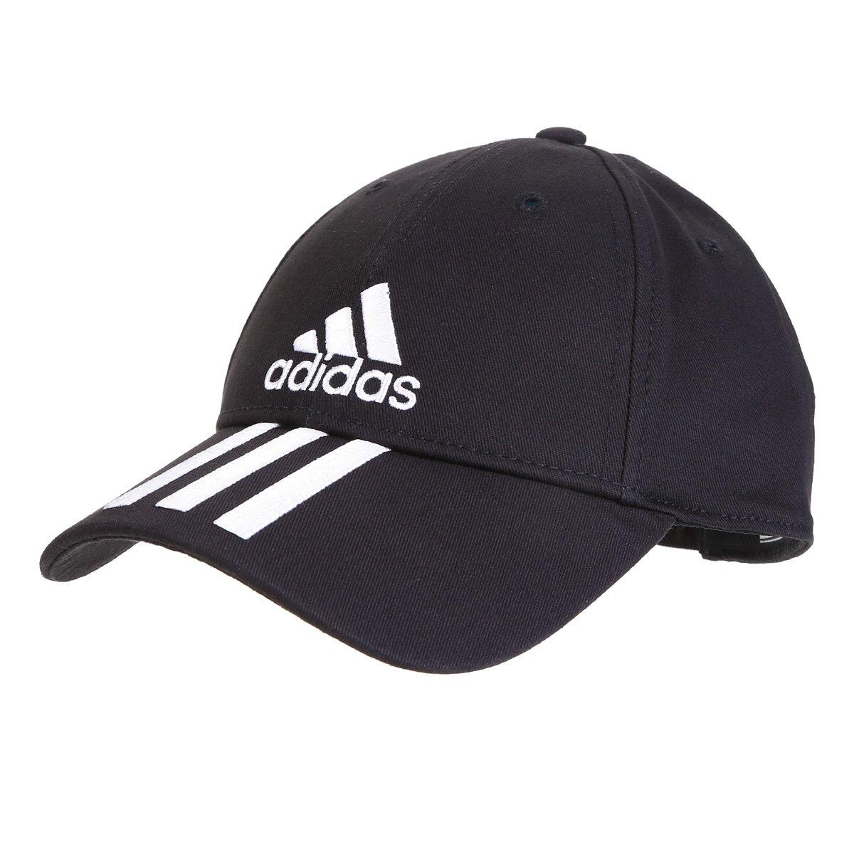 Boné Adidas Ess 3 Stripes Cotton Aba Curva