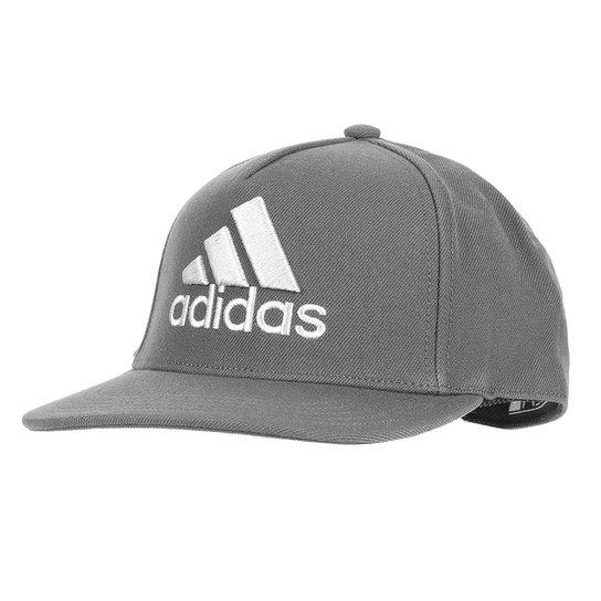 48efdf117ba60 Boné Adidas H90 Logo Cap - Cinza e Branco - Compre Agora