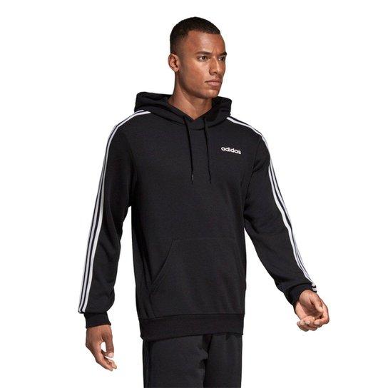 f6f99656bb8 Moletom Adidas Essentials Masculino - Preto e Branco - Compre Agora ...