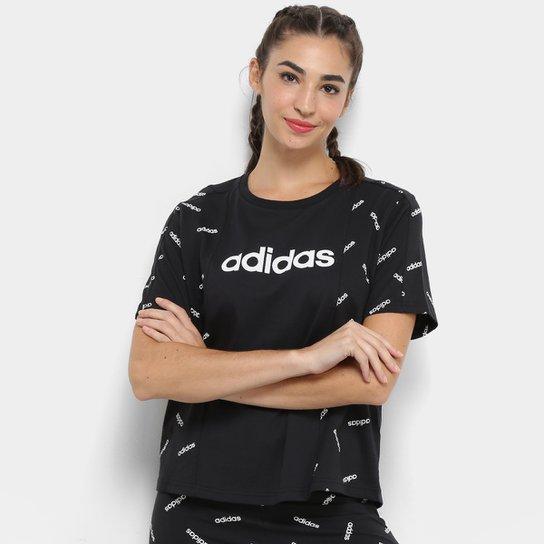 9f0fa7581a2 Camiseta Adidas Full Print Feminina - Compre Agora