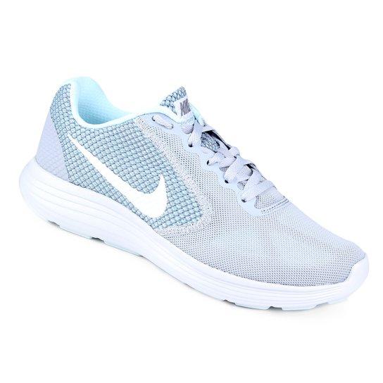 f7a431dc12d Tênis Nike Revolution 3 Feminino - Cinza+Azul Claro