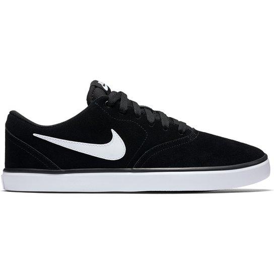 8d6dd2f40d8 Tênis Nike Sb Check Solar Masculino - Preto e Branco - Compre Agora ...
