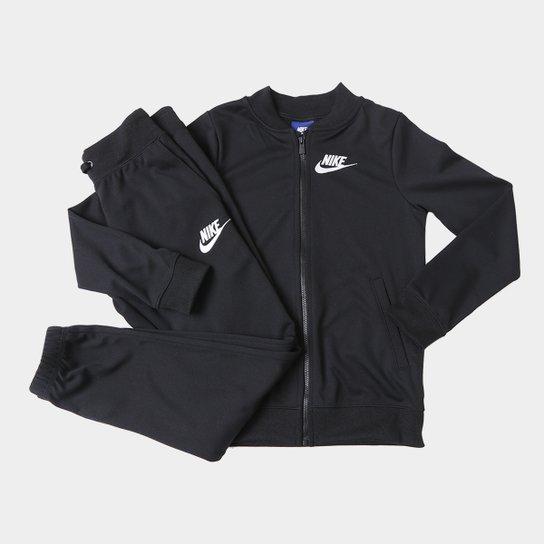 Agasalho Infantil Nike Sportswear Track Suit Feminino - Preto+Branco 75f389b9334fd