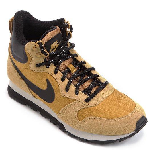 4206b1ca78 Tênis Nike Md Runner 2 Mid Prem Masculino - Caramelo e Preto ...