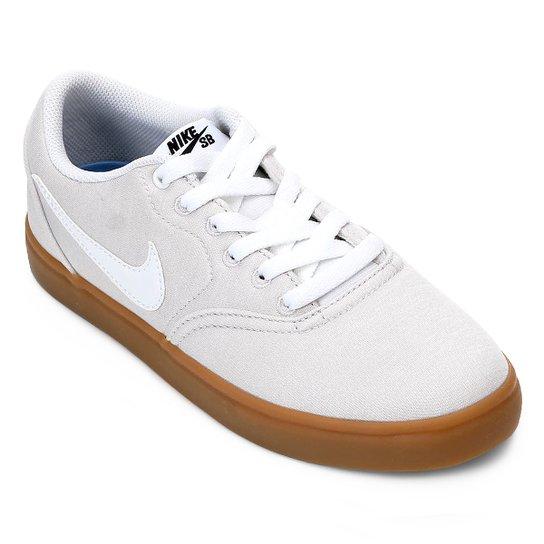 eeee59ed383 Tênis Nike Wmns Sb Check Solar Cvs P Feminino - Cinza e Branco ...