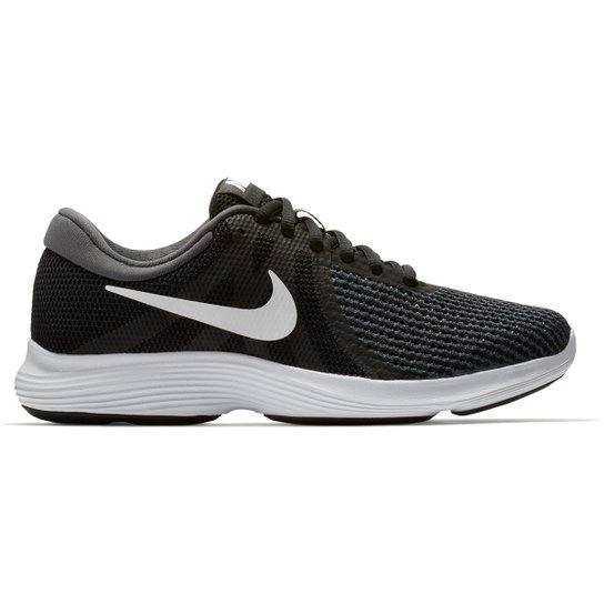 5595ba610 Tênis Nike Wmns Revolution 4 Feminino - Preto e Branco - Compre ...