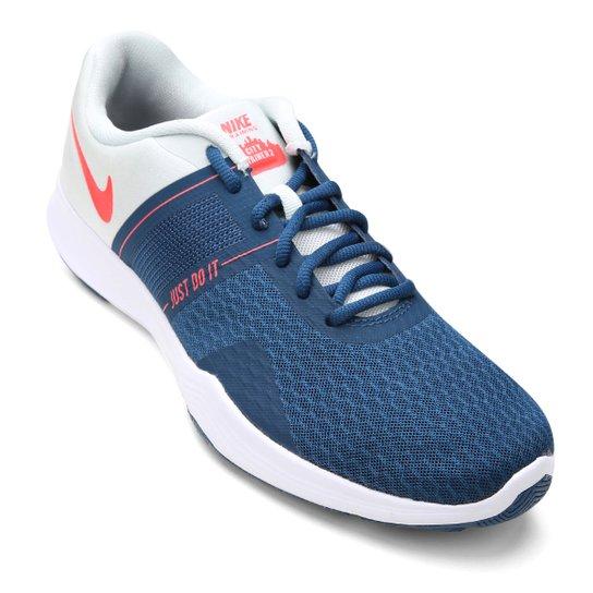 c8ab113797c23 Tênis Nike City Trainer 2 Feminino - Azul e Branco - Compre Agora ...